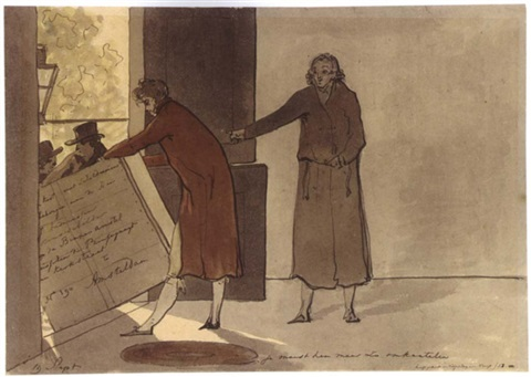 the arrival of a crate of paintings addressed to j. andriessen by christiaan andriessen