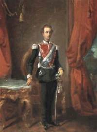 portrait of king george i by spyridon prosalentis