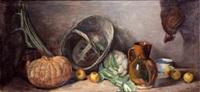 bodegón con calabaza by f. santamans