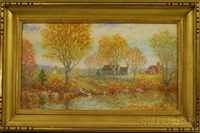 sunny autumn landscape by winfield scott clime