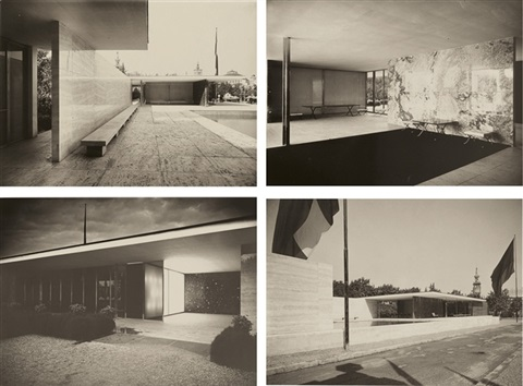 Views Of Mies Van Der Rohes Barcelona Pavilion Set Of 4 By Sasha