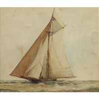 the yacht cygnet by william armstrong