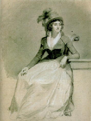 portrait of therwagne de mericourt by jean baptiste jacques augustin