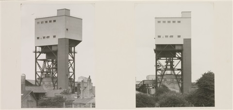 winding tower diptych by bernd and hilla becher