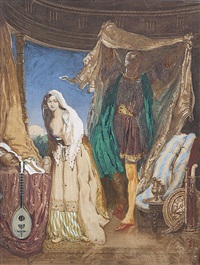 study for the veiled prophet of khorassan by daniel maclise