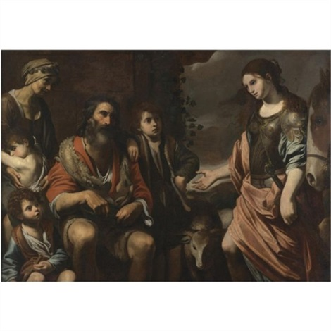 Erminia And The Shepherds By Valentin De Boulogne