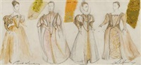 costume designs for hamlet by leslie hurry