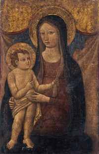 maria mit dem jesusknaben by romano antoniazzo