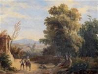 paesaggio con figure by carlo marko