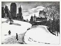 winter fun by louis lozowick