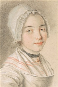 portrait eines jungen mädchens by charles hutin