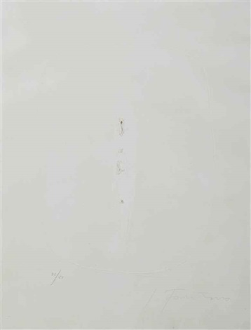 untitled by lucio fontana