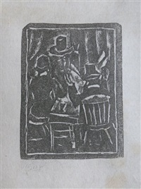 three seated men by max weber