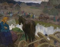 hevosmarkkinat ukrainassa by fjodor ivanovitch rerberg