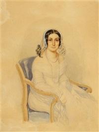 porträt einer dame by josef zumsande
