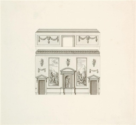 architectural and decorative design for the interior of houghton hall norfolk by william kent