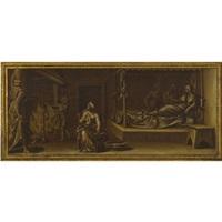 the birth of the virgin by perino del vaga