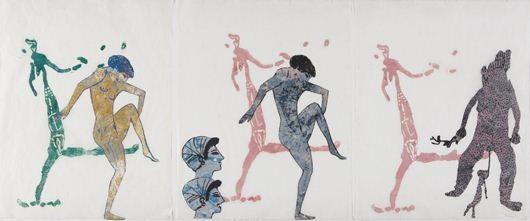 untitled triptych by nancy spero