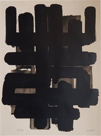 lithographie no. 3 by pierre soulages