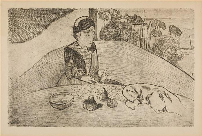 la femme aux figues (die feigenesserin) by paul gauguin