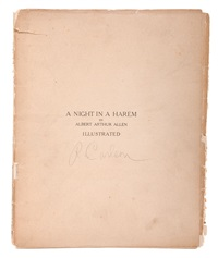 a night in a harem (portfolio of 13) by albert arthur allen