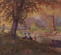 the shaded pool by georges lachance