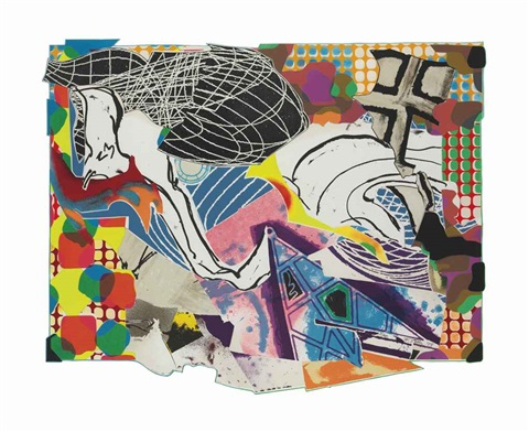 extracts from moby dick deckle edges by frank stella