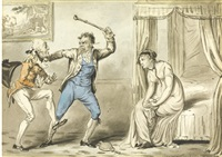 the outraged husband by george cruikshank