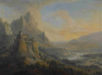 phantastische flusslandschaft by johann (jan) christian vollerdt