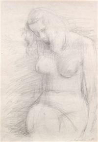 weiblicher akt, sitzend by siegfried klotz