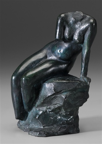 seated nude torso by max kalish
