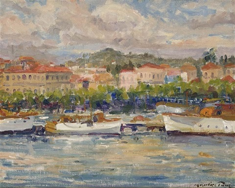 harbour scene france by maurice paul
