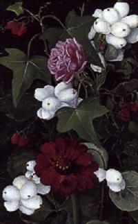roser, snebær, georgine og vedbend by ida rasmussen