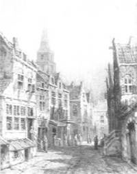 dutch street scene by george van raemdonck