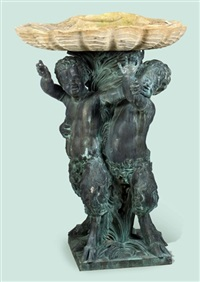 three satyrs fountain by pierre legros the elder