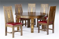 dining room table (+ 5 sidechairs; set of 6) by shop of the crafters