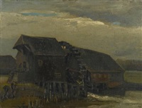 water mill at opwetten by vincent van gogh