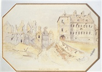 bishops palace, 1759 (+ 2 others; 3 works) by henry richard sharland bunnett