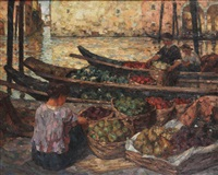 marchands de fruits à venise by felix gogo