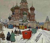 st. basil's cathedral by vladimir nikolaevitch aralov