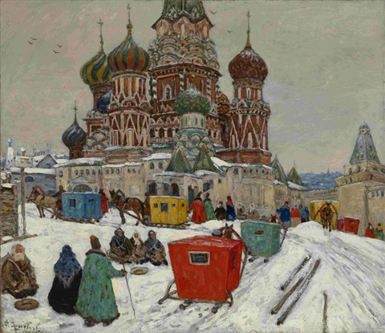 st basils cathedral by vladimir nikolaevitch aralov