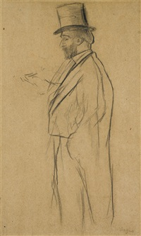 portrait de ludovic halévy by edgar degas