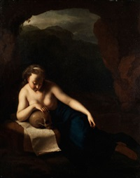 die büssende maria magdalena in einer grotte by pieter van der werff