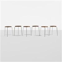 dot stools, set of six by arne jacobsen