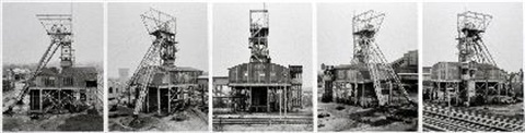 förderturm zeche waltrop leporello in 5 parts by bernd and hilla becher