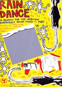rain dance by jean-michel basquiat, roy lichtenstein and andy warhol