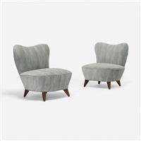 lounge chairs, pair by vladimir kagan