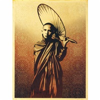 burmese monk by shepard fairey