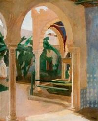 intérieur de la mosquée d'oran by maurice adrey