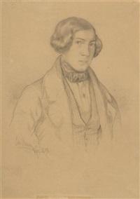 porträt eines jungen mannes (+ bauernmädchen mit esel; 2 works) by joseph resch